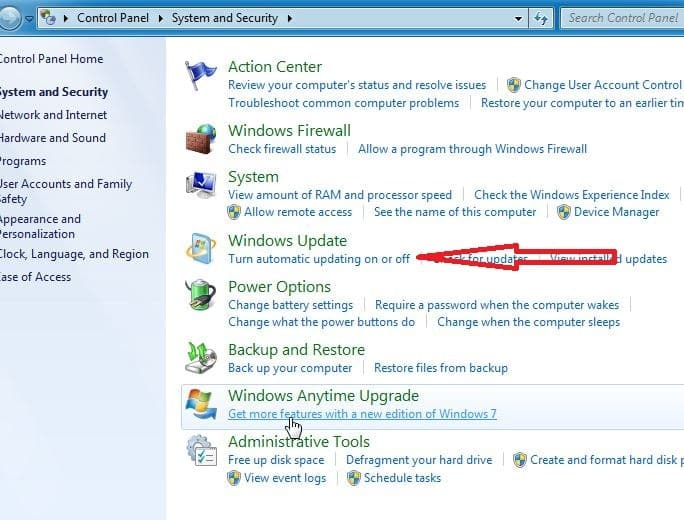 Cara Mematikan Update Windows 7