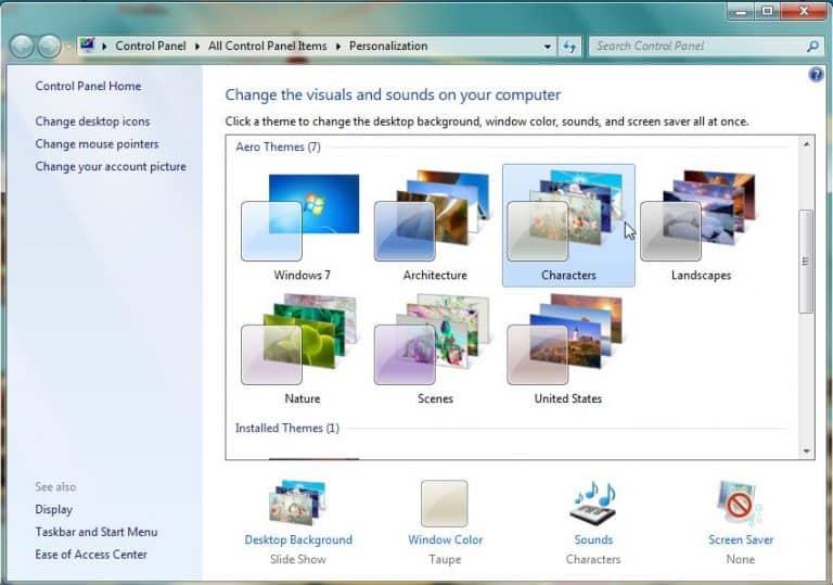 Cara Mengganti Tema di Windows 7